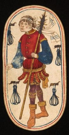 Knave (3), from the Cloisters set of fifty-two playing cards, ca. 1470–1485, South Netherlandish.