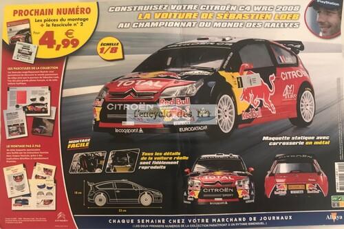 N° 1 Montez pas à pas Citroën C4 WRC 2008 de Sébastien Loeb - Test