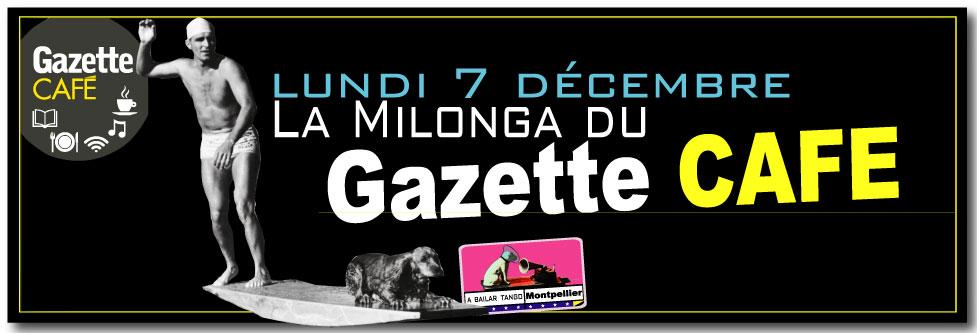 La Milonga du Gazette CAFÉ, milonga gratuite - 1ère le lundi 9 novembre - puis elle sera proposée un lundi par mois // LUNDI : 7 décembre, 18 Janvier, 8 février, 7 Mars, 11 avril, 2 mai, 6 juin /