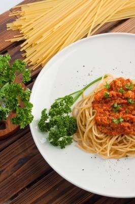 Spaghettis à la sauce tomate cuisine