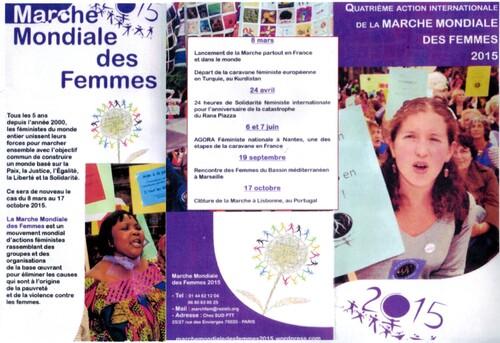 Marche mondiale des femmes au Havre le 6 juin
