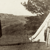A Sioux wedding. 1912. Photo by Julia Tuell. Possibly taken on or near Rosebud Reservation,South Dak