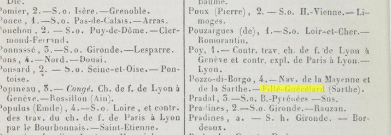 Pozzo di Borgo Conducteur des Ponts-et-Chaussées sur la Mayenne et la Sarthe