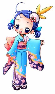 ° sophie en kimono trop belle °