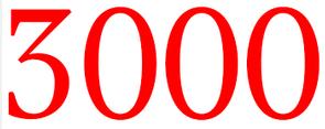 3000 visiteurs !!!!!!!!!