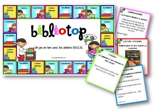 Bibliotop - jeu pour la lecture