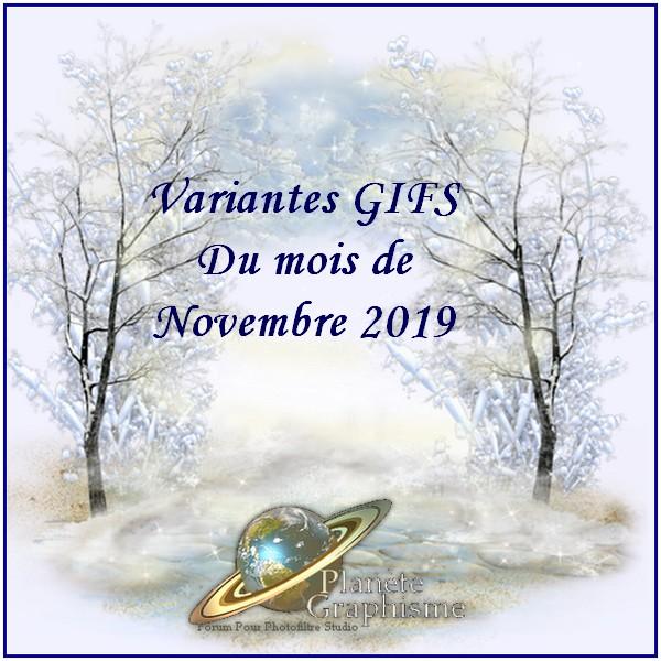 Variantes du mois de Novembre 2019