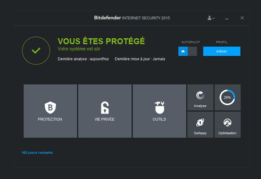Bitdefender Internet Security 2015 - Licence 6 mois gratuits