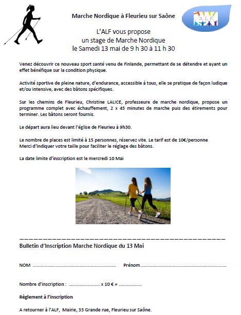 MARCHE NORDIQUE - 13 mai 2017