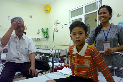 Phuong et Hieu à Hanoi avec Enfants d'En Face