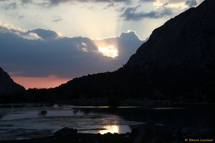 Notre campement au bord du lac Govkush
