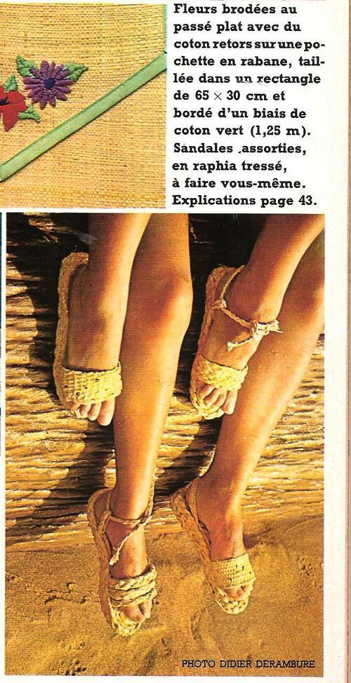 Les chaussures en raphia DIY
