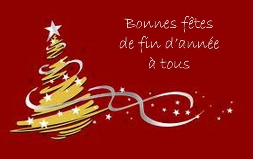 Bonnes fêtes de fin d'année, et joyeux Noël 2014