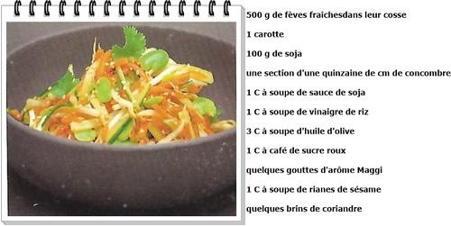 Salade asiatique aux fèves