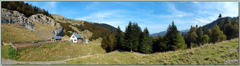 Estive de Lareix avec sa cabane pastorale et son refuge - Massif de Cagire - Sengouagnet - 31