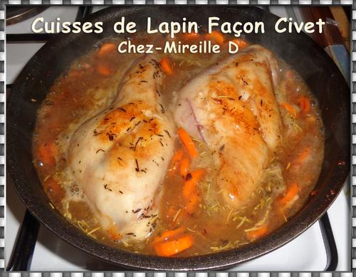Cuisses de Lapin Façon Civet (Sans Vin)