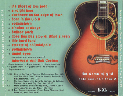 Live: Bruce Springsteen - Solo Acoustic Tour - The Arms of god Vol 2