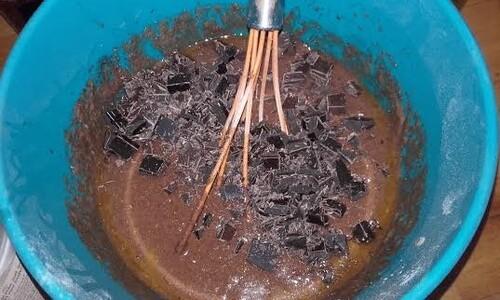 Gâteau chocolat/banane/noisettes {Vegan}