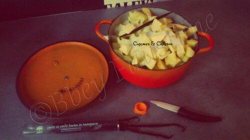 Compote de pommes a la vanille