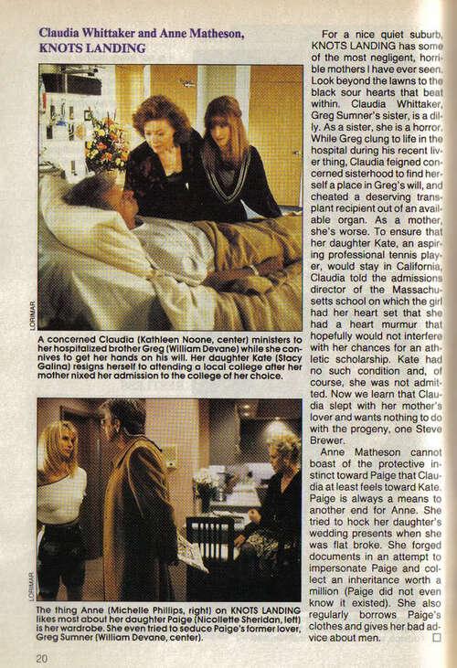 Kathleen,Michelle Phillips,Pat petersen+seconds roles