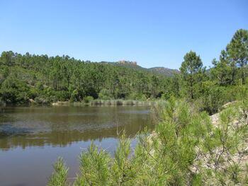 Petit lac, et la crête du bis de Malvoisin en arrière-plan