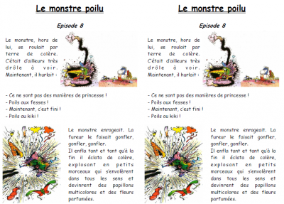 "TAPUSCRIT ""LE MONSTRE POILU"""