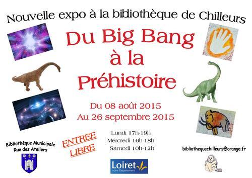 Exposition : du Big bang à la Préhistoire