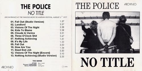 Live! Quand la Police était punk.... Mont de Marsan - 5 août 1977