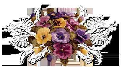 Barres séparatives fleurs d'automne png