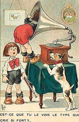 Emerveillement des enfants et parents devant le phonographe  Au début du XXe siècle, le chroniqueur scientifique Emile Gautier évoque l'émerveillement que suscite le phonographe, appareil révolutionnaire, source d'amusement pour les enfants, et de joie pour les parents...  > La suite sur http://bit.ly/xDs1FZ