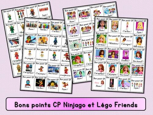 "Bons points ""Ninjago"" et Légo Friends"""