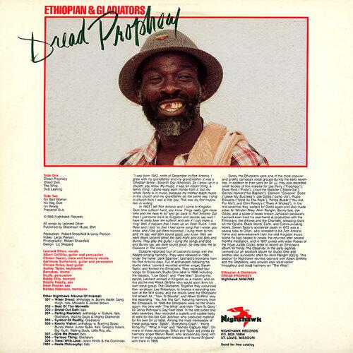 "Ethiopian & Gladiators : Album "" Dread Prophecy "" Nighthawk Records NHM-7492 [ US ]"