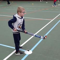 Première séance de hockey