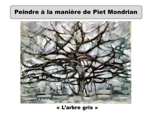 L'arbre gris à la manière de Piet Mondrian