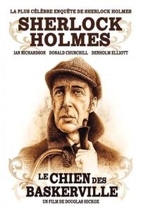 Le Chien des Baskerville (1983) : Sir Charles Baskerville meurt dans des circonstances mystérieuses sur la lande sauvage qui entoure son manoir. Beaucoup de ses voisins disent qu'il aurait été tué par un chien démon, une malédiction qui pèse sur les Baskerville depuis des générations. Tout son héritage revient à Sir Henri Baskerville qui arrive du Canada un peu inquiet. L'héritier consulte aussitôt Sherlock Holmes. ... ----- ... Téléfilm de Douglas Hickox  Drame et epouvante-horreur  1 h 41 min 3 novembre 1983 Avec Ian Richardson, Donald Churchill, Denholm Elliott
