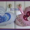 Coeurs à la lavande bleu et rose
