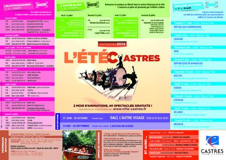 Ville de Castres - ETE A CASTRES 2014