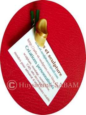 Décoration de fête personnalisée: moules en silicone et sujets à coller- Arts et Sculpture: sculpteur , artisan d'art
