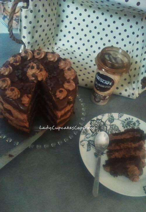 Layer cake chocolat-beurre de cacahuète  #battlefood#29