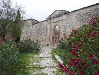 Le seul mur encore debout du château