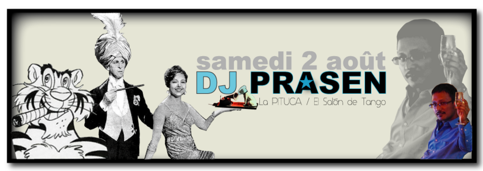 ★ DJ LALIE à la MdM ce mercredi 30/7 DJ PRASEN samedi 2/8 à La PITUCA & DJ Gérald samedi 9.08 avec expo NO ME PISES ★