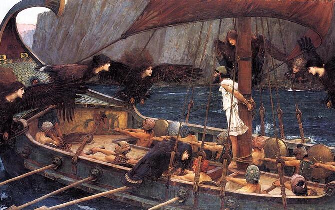 Tableau Ulysse et les sirènes