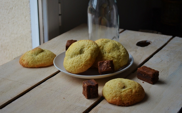 Pillow cookies (avec brownie milka®)
