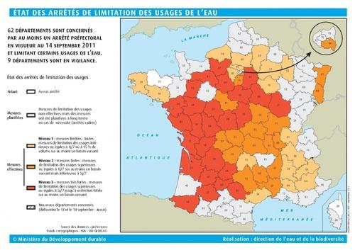 Nouvelles restrictions d'eau dans le Tarn (15 septembre 2011)