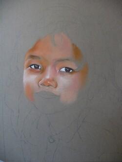 Petite fille du Cambodge