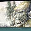 Aquarelle inspirée du monde légendaire nordique - Le troll - 2008