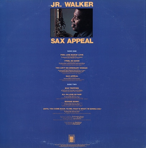 "Jr. Walker : Album "" Sax Appeal "" Soul Records S6-747S1 [ US ]"
