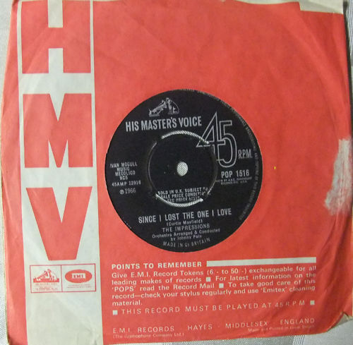 1966 : Single SP ABC Paramount Records 10761 [ UK ]