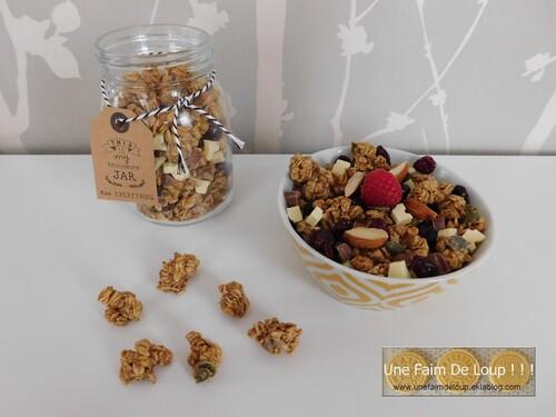 Granola aux graines et purée de noisettes