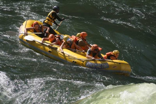 White water rafting on the mighty Zmabezi
